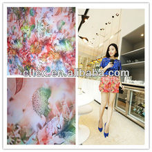Ladies' Fashion Digital Print Polyester Fabric Long Dress China Supplier