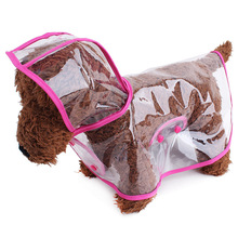 Alibaba Factory Wholesale Dog Hooded Poncho Transparent Waterproof Clothes Pet Clothes Plastic Dog Raincoat