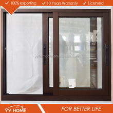 High quality aluminium frame glass champagne color aluminum sliding window