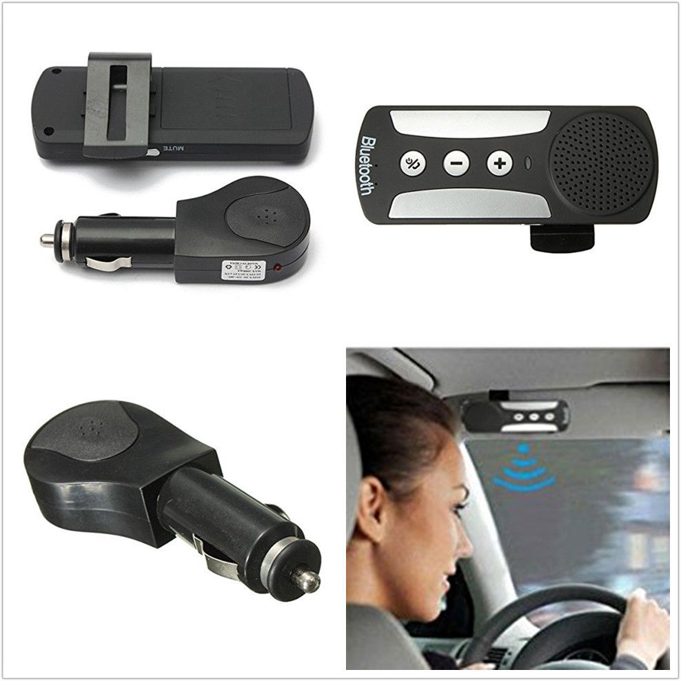 Car HD EDR Hands-free Wireless Bluetooth Speakerphone Speaker Car Kit Sun Visor