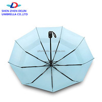 Hot sale Double Layer 3 Folding Umbrella Windproof Travel Umbrella Auto Open and Close bumbershoot