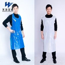 Comfortable thick material kitchen plastic can disposable aprons for adults