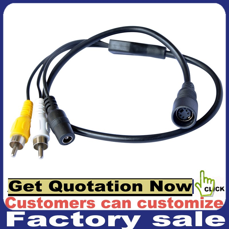 Top Quality 4 pin S-VIDEO SVIDEO SVHS Plug to 2 RCA TV Cable 5FT