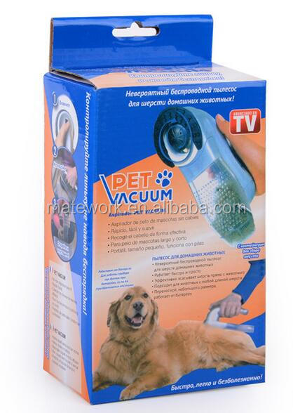 Electric Pet Dog Vacuum Collect Hair Cleaner, Auto Pet Dog Grooming Shaver, Battery Operated Dog Cat Hair Trimmer Clipper