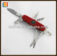 2017 Luxury 9 Functions Rubber Finish Handle Multi Survival Knife, Tool Knife With Compass, LED Light & Saw