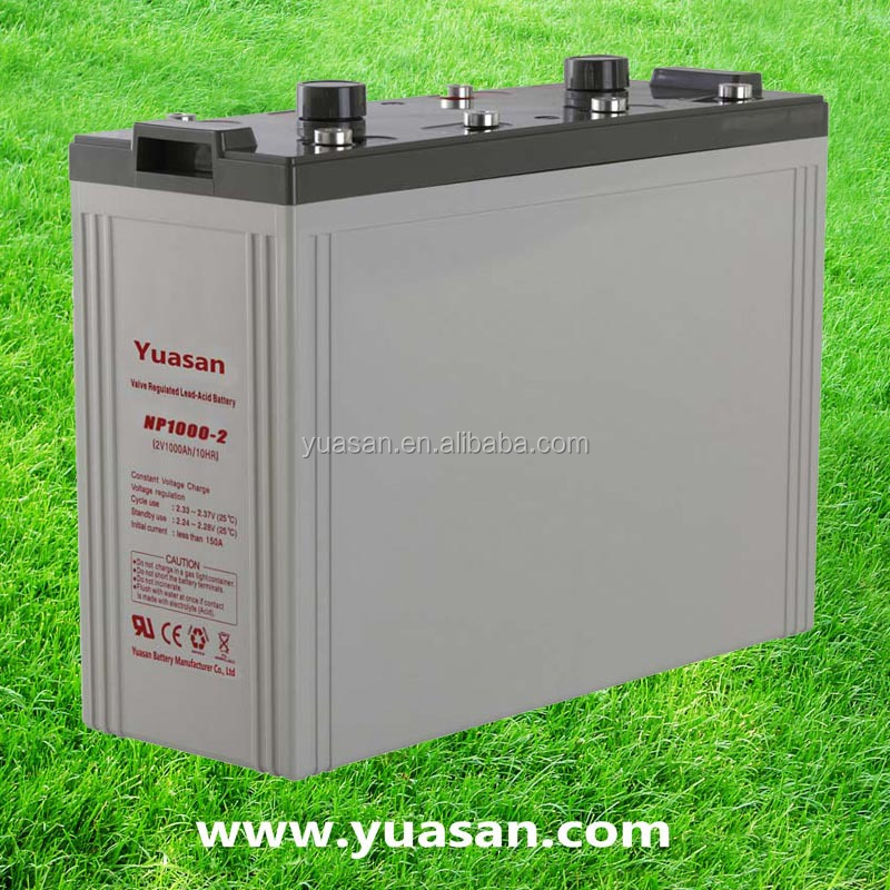 2V 1000AH Yuasan Sealed Lead Acid Standby Battery AGM Exide UPS Batteries for Power Station -NP1000-2