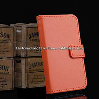!! FREE SHIPPING !! New Leather Flip Case Cover Pouch Bumper Wallet for iPhone 4 4G 4S Orange Best Quality