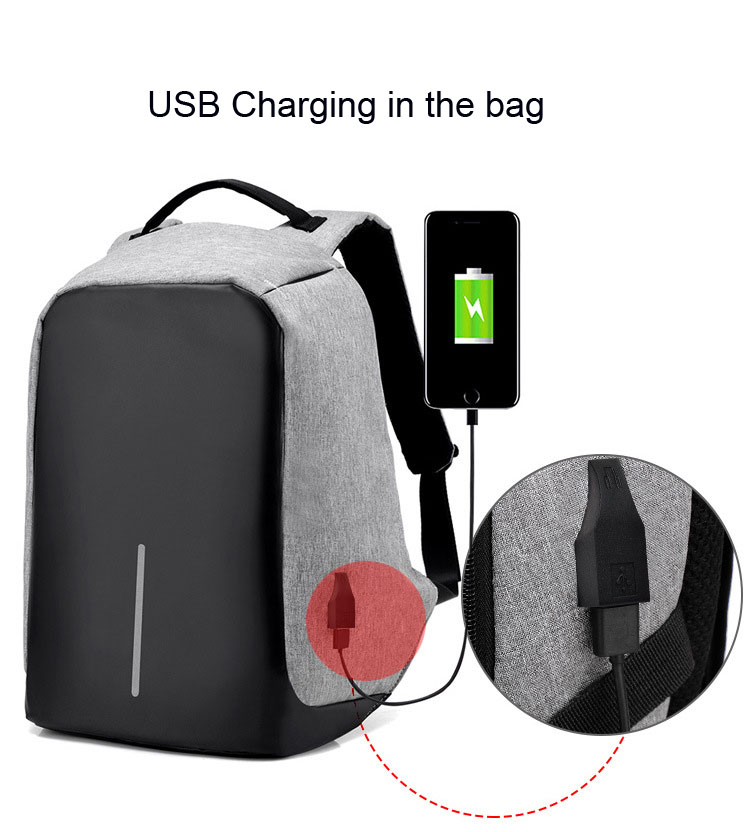 Bagpack backpack laptop with usb charger anti theft backpack bag <strong>school</strong>