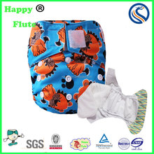 Happy flute AIO cloth diaper reusable washable baby diaper factory sale