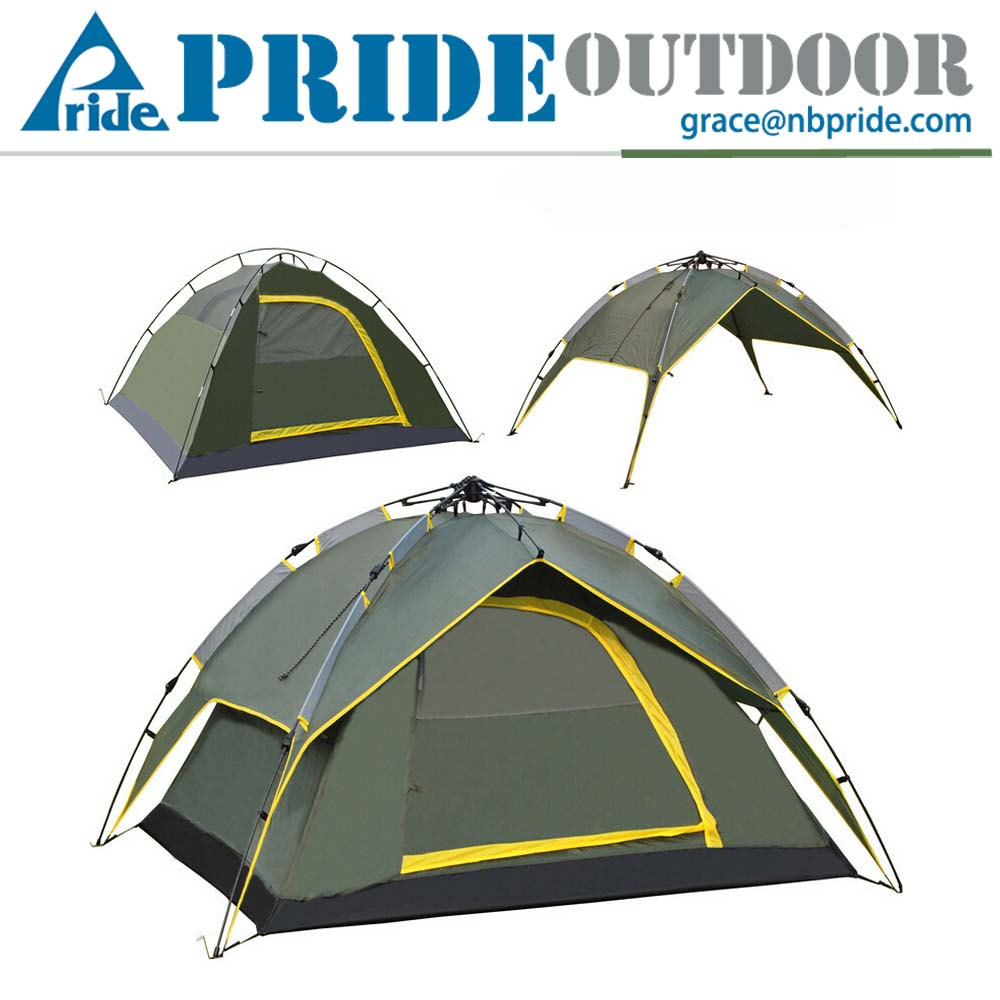 Outdoor Camping Folding 4 Person Tent Automatic Pop Up Backpacking Tent