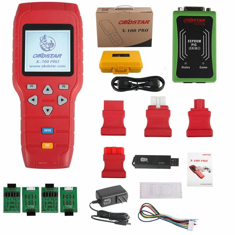 Top Quality <strong>100</strong>% Original OBDSTAR X100 Pro Auto Car Key Programmer C+E+D Full Set Support Odometer&amp;Key Programmer <strong>X</strong> <strong>100</strong> Pro