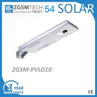 10W IP65 All in One Solar Street Lighting with Daylight Sensor