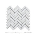 New Arrival Good Quality Herringbone Bianco Diamante White Marble Mosaic