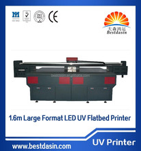 Digital UV-1325 UV Flatbed Printer, 2500 x 1300 mm fast speed 3D uv glass Background wall printer/large size glass printing