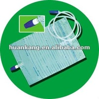 plastic urine bag with screw valve(HK-B04)