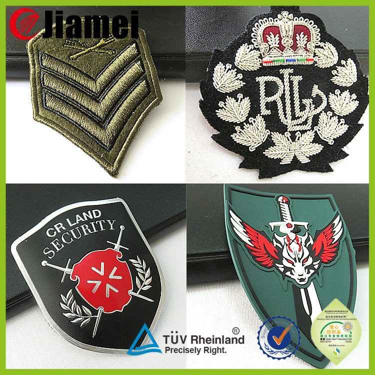 Custom security uniform logo pilot wings military clothing sheild pin badges