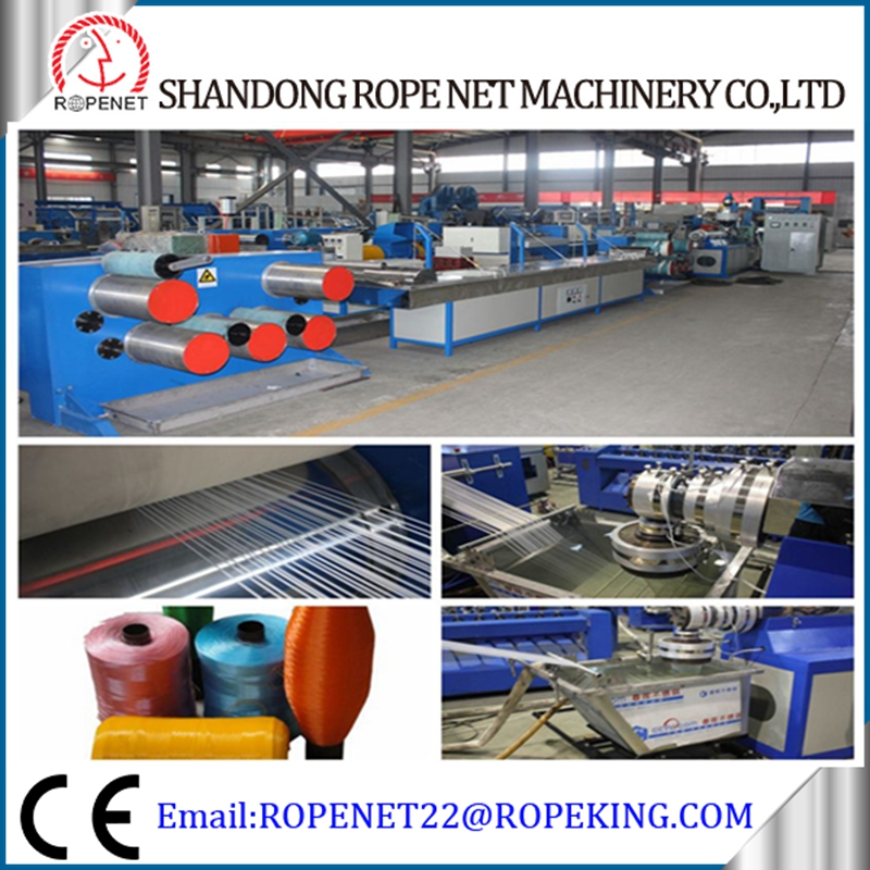 Extruder Machine plastic rope extrusion line for monofilament production Email:ropenet22@ropenet.com