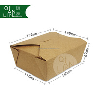 Customized High Quantity Paper Lunch Box
