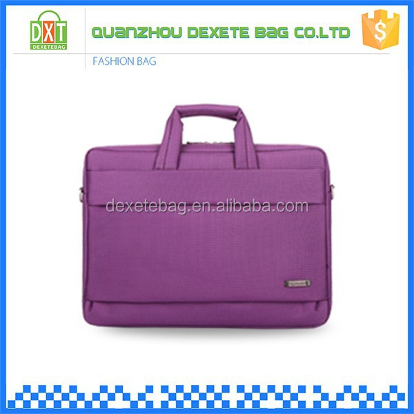 Purple polyester material ultrathin handheld laptop bag