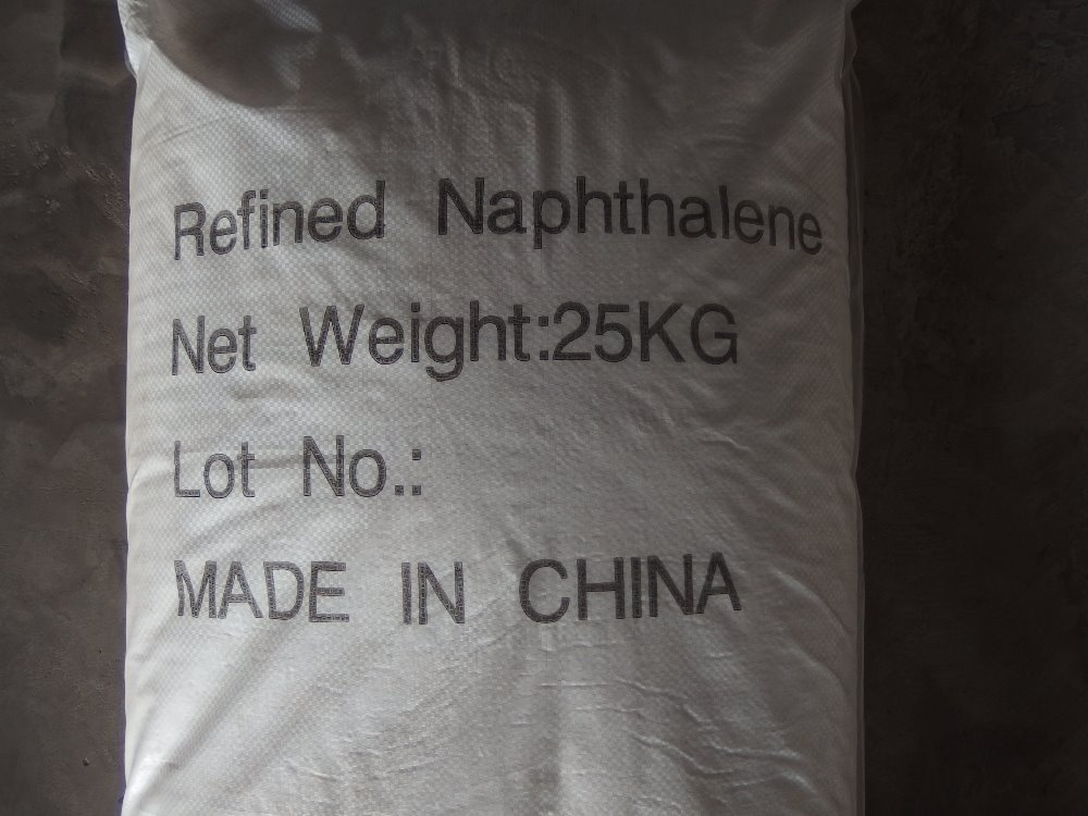 high quality refine naphthalene flakes snow white