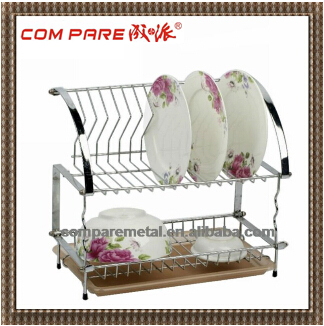 2-tier Adjustable Metal Folding Wire dish rack