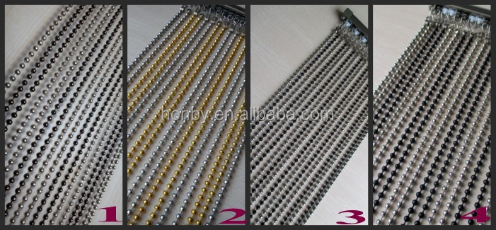 2016 Hot Selling Elegant Hanging Metal Bead Curtain
