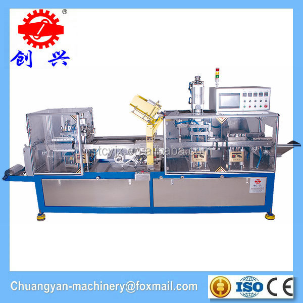 Durable paper plastic automatic blister labeling packaging machine