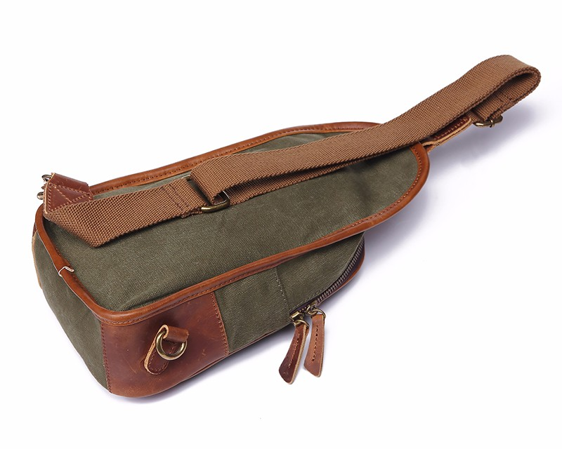 Unisex Vintage Triangle Canvas High Quality Shoulder Sling Pack Outdoor Chest Bag