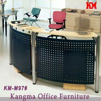 U shape office front furniture used reception desk