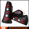 Custom Black Synthetic Leather USA Golf Putter Headcovers