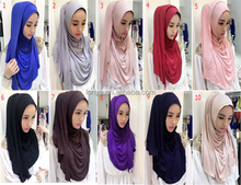Wholesale Stylish jersey Women Muslim Shawl Hijab Scarf