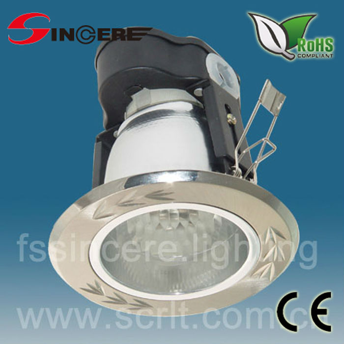 modern recessed porch lighting wiht aluminum reflect cup E14/E27 lampholder indoor downlight