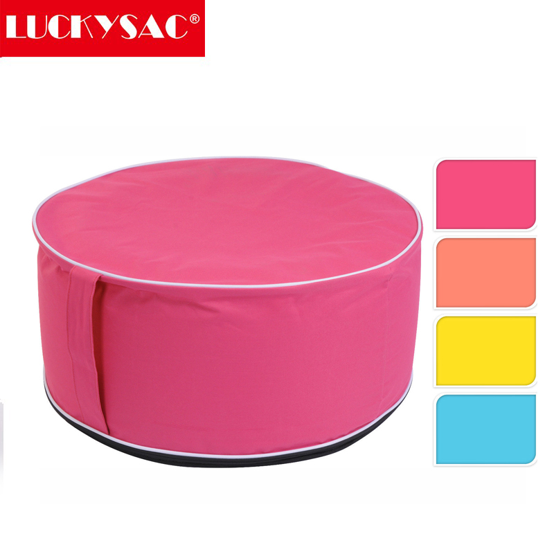 customer's logo printing inflatable leather pouf,leather pouffe,foldable folding storage stool