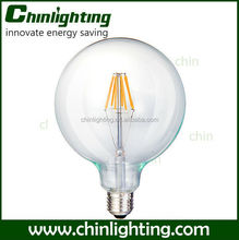 g125 led bulb fialment 8w e27 ce approval silicon g125 filament Led bulb Light g125 antique edison style led light bulbs