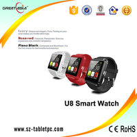 Lowest Price U8 Smart Watch Phone Bluetooth Android smart Watch u8 smart watch mobile phone