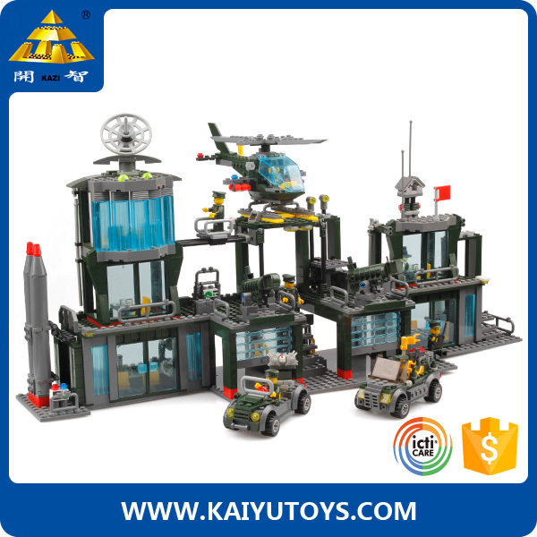 KAZI building blocks 656pcs brick toys intelligence war toy