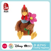 The soft cheap promotional gift plush chicken toy to kids