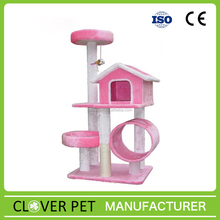 Hot Sale Pet Cat Tree Tower with a Cute House
