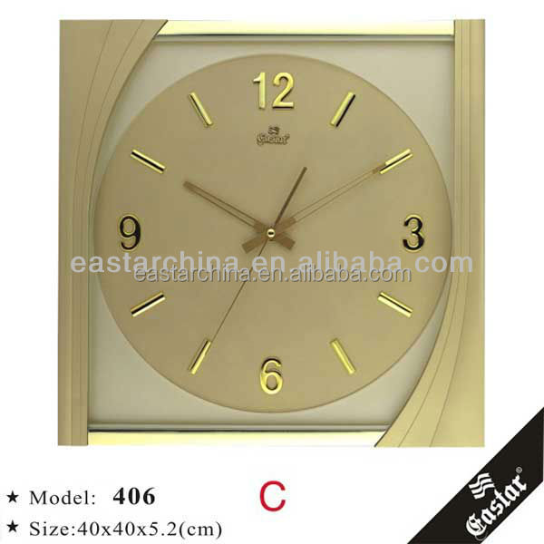 Large clock square wall clock plastic dial without tick sound