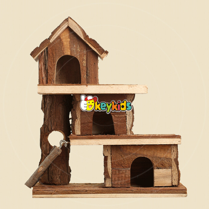2017 wholesale cheap wooden hamster house high quality natural wooden hamster house custom wooden hamster house W06F017