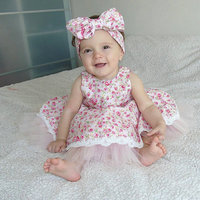 nice printed flower princess infant kids rompers new style hot sale baby bodysuit
