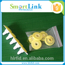 factory price 134.2Khz reflective rfid ear tag,detector rfid microchip ear tag for tracking animal ID