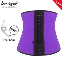 In stock items women new shapers thin latex waist trainer corset colorful latex waist girdle 3 hook tummy trimmer waist shaper