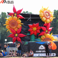 Yellow Stage Decoration Inflatable Flowers