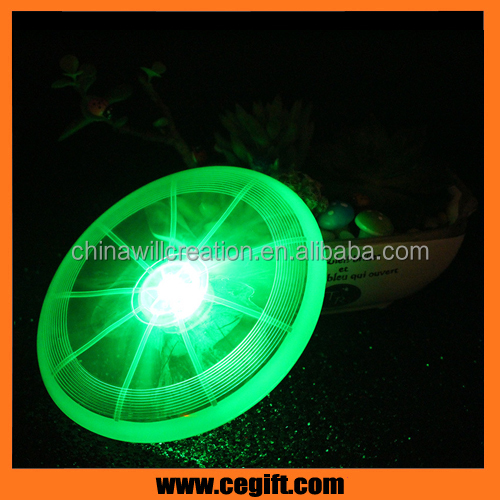 China factory wholesale outdoor toys dog frisbee Flashing Led dog frisbee