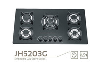 86cm 5-Burner Glass Top Gas Stove / Built-in Gas Hob with Tempered Glass Top/ made in china