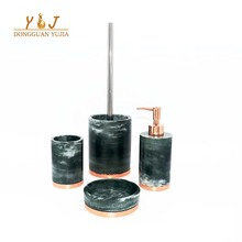 China Green Resin Bathroom Accessories Toilet Set Marble Lanka Tiles Accessory Bathroom Set