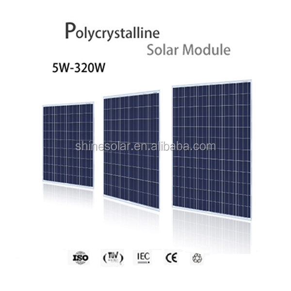 silicon solar plate 130 watt 150w poly solar panel