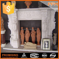European Style Hot black granite fireplace hearth