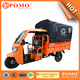 2016 Popular Heavy Load Strong Gasoline Cabin Semi-Closed Cargo Chinese 250CC Garbage Electric Tricycle